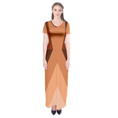 Volcano Lava Gender Magma Flags Line Brown Short Sleeve Maxi Dress by Mariart