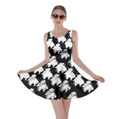 Transforming Escher Tessellations Full Page Dragon Black Animals Skater Dress by Mariart