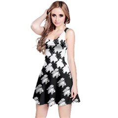 Transforming Escher Tessellations Full Page Dragon Black Animals Reversible Sleeveless Dress
