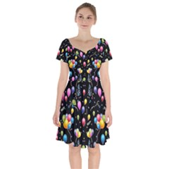 Balloons   Short Sleeve Bardot Dress by Valentinaart