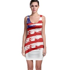 American Flag Sleeveless Bodycon Dress by Valentinaart