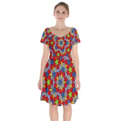 Penrose Tiling Short Sleeve Bardot Dress