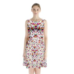 Otomi Vector Patterns On Behance Sleeveless Waist Tie Chiffon Dress