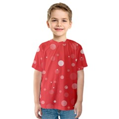 Decorative Dots Pattern Kids  Sport Mesh Tee by ValentinaDesign