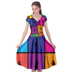 Girls Fashion Fashion Girl Young Cap Sleeve Wrap Front Dress by Nexatart