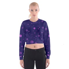 Decorative Dots Pattern Cropped Sweatshirt by ValentinaDesign