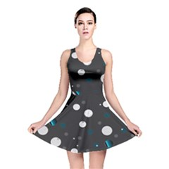 Decorative Dots Pattern Reversible Skater Dress by ValentinaDesign