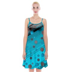 Decorative Dots Pattern Spaghetti Strap Velvet Dress by ValentinaDesign
