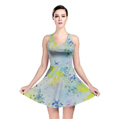 Watercolors Splashes              Reversible Skater Dress by LalyLauraFLM