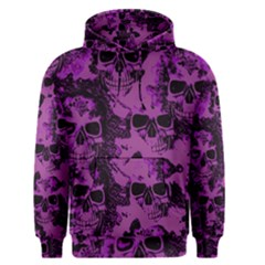 Cloudy Skulls Black Purple Men s Pullover Hoodie by MoreColorsinLife