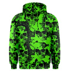 Cloudy Skulls Black Green Men s Pullover Hoodie by MoreColorsinLife