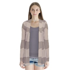 Pattern Wave Beige Brown Cardigans by Nexatart