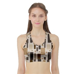 Pattern Wallpaper Patterns Abstract Sports Bra With Border by Nexatart