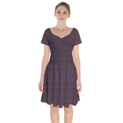 Pattern Background Star Short Sleeve Bardot Dress