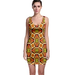 Geometry Shape Retro Trendy Symbol Sleeveless Bodycon Dress by Nexatart