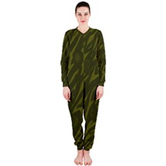 Linux Logo Camo Green Onepiece Jumpsuit (ladies)  by bullshitdesign