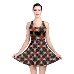 Kaleidoscope Image Background Reversible Skater Dress