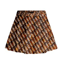 Dirty Pattern Roof Texture Mini Flare Skirt