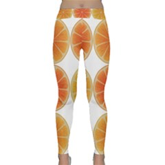 Orange Discs Orange Slices Fruit Classic Yoga Leggings by Nexatart