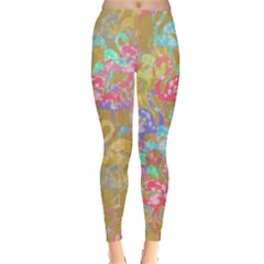 Flamingo Pattern Leggings  by Valentinaart
