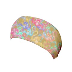 Flamingo Pattern Yoga Headband by Valentinaart