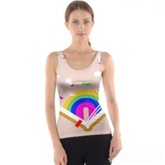 Books Rainboe Lamp Star Pink Tank Top by Mariart