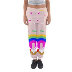 Books Rainboe Lamp Star Pink Women s Jogger Sweatpants by Mariart