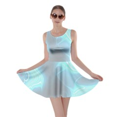 Blue Patterned Aurora Space Skater Dress
