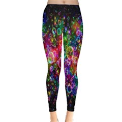 Colorful Bubble Shining Soap Rainbow Leggings  by Mariart