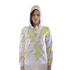 Lightning Yellow Hooded Wind Breaker (women) by Mariart