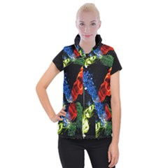 Perfect Amoled Screens Fire Water Leaf Sun Women s Button Up Puffer Vest by Mariart