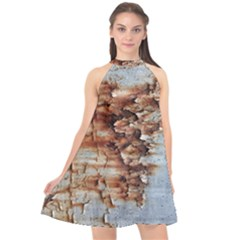 Peeling Paint            Halter Neckline Chiffon Dress by LalyLauraFLM
