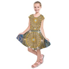 Arches Architecture Cathedral Kids  Short Sleeve Dress