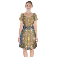 Arches Architecture Cathedral Short Sleeve Bardot Dress by Nexatart