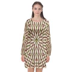 Kaleidoscope Online Triangle Long Sleeve Chiffon Shift Dress  by Nexatart