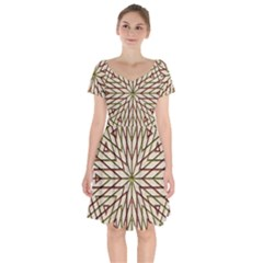 Kaleidoscope Online Triangle Short Sleeve Bardot Dress