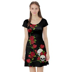 Sweet Poison Short Sleeve Skater Dress by tonitails