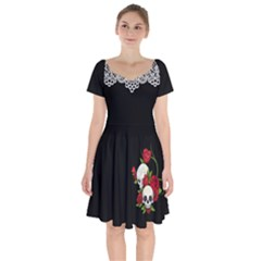 Sweet Poison Short Sleeve Bardot Dress by tonitails