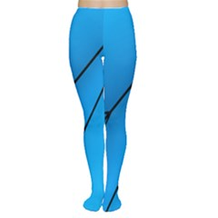 Technical Line Blue Black Women s Tights by Mariart