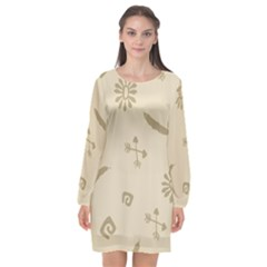 Pattern Culture Seamless American Long Sleeve Chiffon Shift Dress