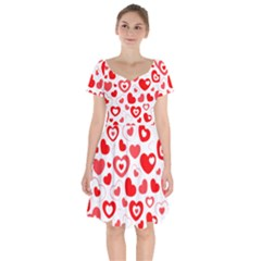 Cards Ornament Design Element Gala Short Sleeve Bardot Dress