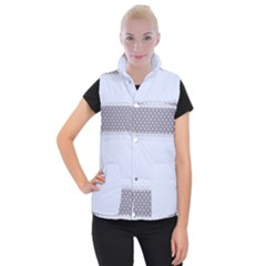 Blue Modern Women s Button Up Puffer Vest by Nexatart