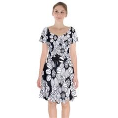 Mandala Calming Coloring Page Short Sleeve Bardot Dress