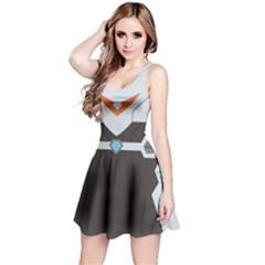 Orange Guardian Sleeveless Dress