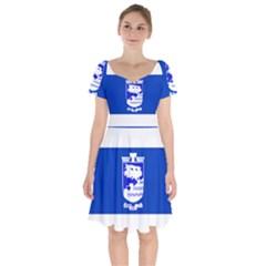 Flag Of Holon  Short Sleeve Bardot Dress by abbeyz71