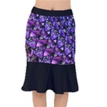 Blue purple Shattered Glass Mermaid Skirt