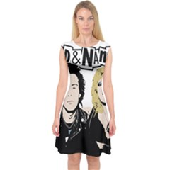 Sid And Nancy Capsleeve Midi Dress by Valentinaart