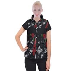 Slash Women s Button Up Puffer Vest by Valentinaart