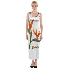 Bird Of Paradise Fitted Maxi Dress by Valentinaart