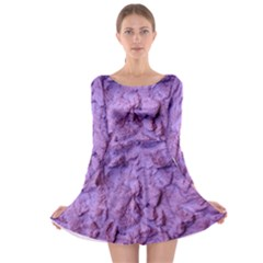 Purple Wall Background Long Sleeve Skater Dress by Costasonlineshop